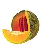 Isolated Cantaloupe Wedge Royalty Free Stock Images