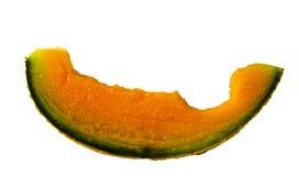 Isolated Cantaloupe Wedge Stock Images