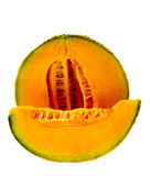Isolated Cantaloupe Wedge Stock Photo