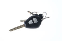 Isolated Car Keys on white background Stock Images
