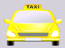 Isolated car with taxi sign Royalty Free Stock Image