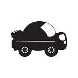 Isolated car toy silhouette Royalty Free Stock Photography