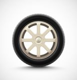 Isolated Car Wheel Royalty Free Stock Photography