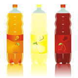 Isolated carbonated drinks bottles set. Vector illustration of isolated carbonated drinks bottles set Stock Photo
