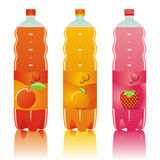 Isolated carbonated drinks bottles set Stock Photography