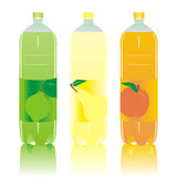 Isolated carbonated drinks bottles set Royalty Free Stock Photo