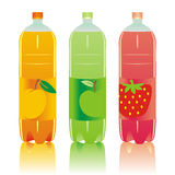 Isolated carbonated drinks bottles set. Vector illustration of isolated carbonated drinks bottles set Stock Photos