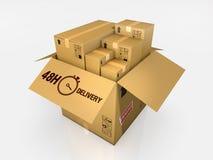 Isolated cardboard box on white background Royalty Free Stock Photo