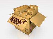 Isolated cardboard box on white background Stock Image