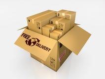 Isolated cardboard box on white background Stock Photography