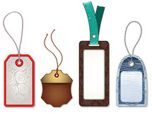 Isolated Cardboard Sales Tags. Vector illustration Royalty Free Stock Photo