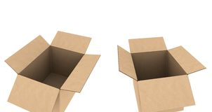Isolated cardboards Royalty Free Stock Photo