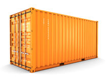 Isolated cargo container Royalty Free Stock Images