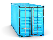 Isolated cargo container Stock Photos