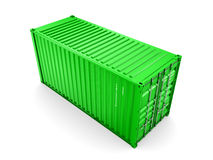 Isolated cargo container Royalty Free Stock Photography