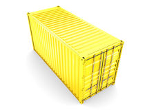 Isolated cargo container Royalty Free Stock Photos