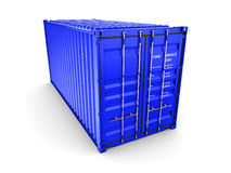 Isolated cargo container Stock Image