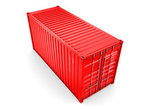 Isolated cargo container Stock Photo