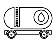 Isolated cargo oil truck, vector graphic Stock Photography