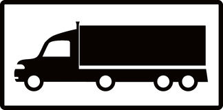 Isolated cargo truck silhouette Royalty Free Stock Photography