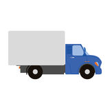 Isolated cargo truck. On a white background,  illustration Royalty Free Stock Image