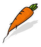 Isolated carrot illustration Stock Photos