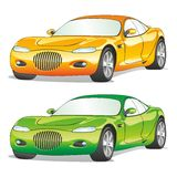 Isolated cars with details Stock Photo