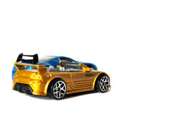 Isolated cars racing Stock Images