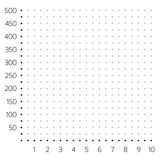 Isolated cartesian system grid made of dots Stock Photos