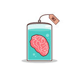 Isolated cartoon brain for sale promotion Stock Image