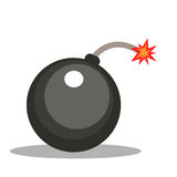 Isolated cartoon cannonball bomb Stock Photography