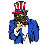 Isolated cartoon the fake doppelganger of uncle sam Royalty Free Stock Photography