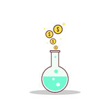 Isolated cartoon formula to getting rich. The Isolated cartoon formula to getting rich Stock Images