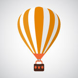 Isolated Cartoon Retro Air Balloon Vector Stock Image