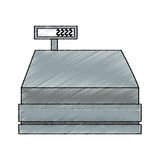 Isolated cash register design Royalty Free Stock Image