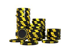 Isolated Casino Chips 3D Royalty Free Stock Photography