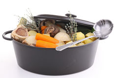 Isolated casserole with beef stew Royalty Free Stock Photo