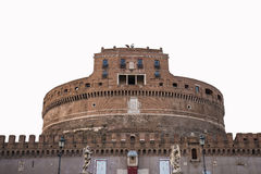 The isolated of Castel Sant Angelo the landmark of Rome, Italy Royalty Free Stock Images