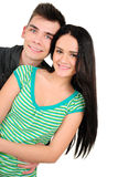 Isolated casual couple Royalty Free Stock Image