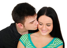 Isolated casual couple Stock Photos