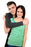 Isolated casual couple Stock Photography