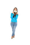 Isolated casual girl Royalty Free Stock Photo
