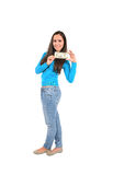 Isolated casual girl Stock Photos