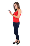 Isolated casual girl Stock Photography