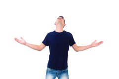 Isolated casual man Royalty Free Stock Images