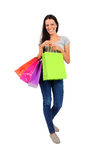 Isolated casual woman Stock Photography