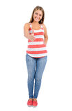 Isolated casual woman Royalty Free Stock Image