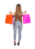 Isolated casual woman Royalty Free Stock Photo