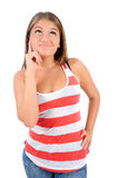 Isolated casual woman Royalty Free Stock Photos