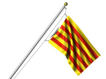 Isolated Catalunyan Flag Stock Image